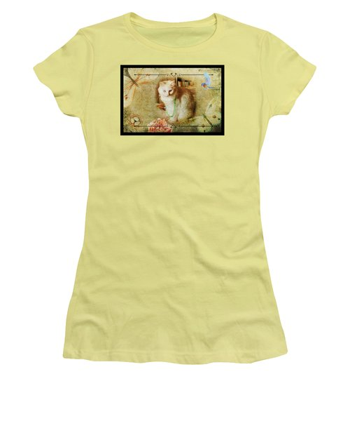 Kitty Cat Composite Art II Women's T-Shirt (Athletic Fit)