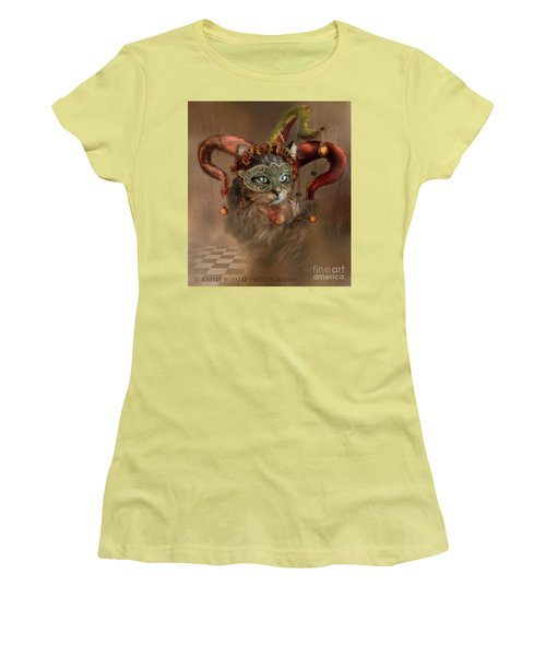 Cat In A Hat Women's T-Shirt (Junior Cut) by Kathy Russell
