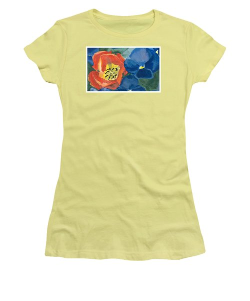 Cat Tulip Women's T-Shirt (Athletic Fit)