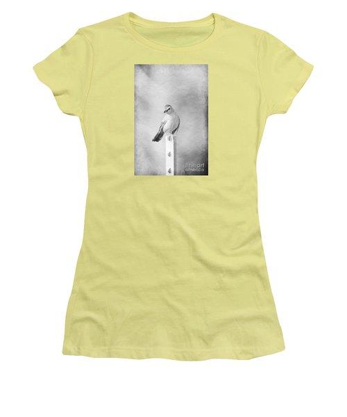 Catbird Women's T-Shirt (Junior Cut) by Lila Fisher-Wenzel