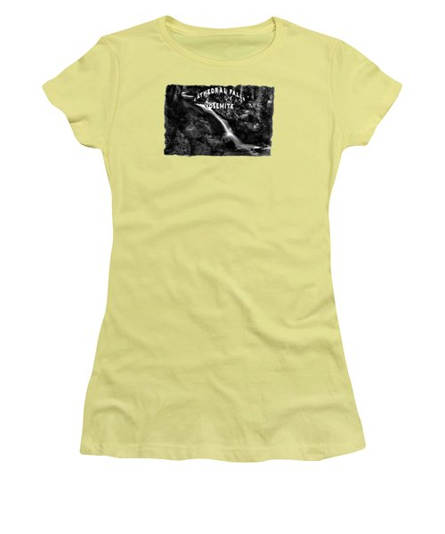 Cathedral Falls From The Tioga Pass Road Women's T-Shirt (Athletic Fit)