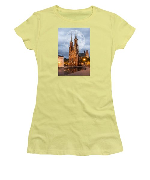 Cathedral Women's T-Shirt (Junior Cut) by Jaroslaw Grudzinski