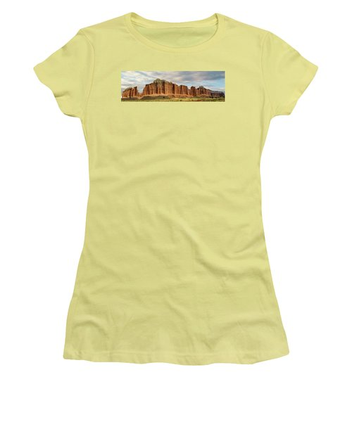 Cathedral Valley Wall Women's T-Shirt (Junior Cut) by Gary Warnimont