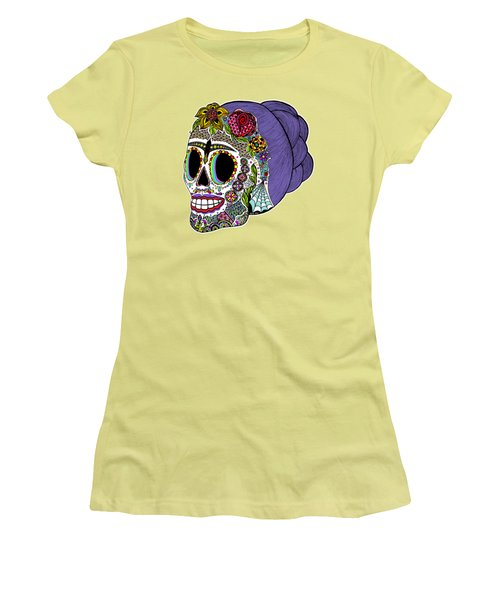 Catrina Sugar Skull Women's T-Shirt (Athletic Fit)