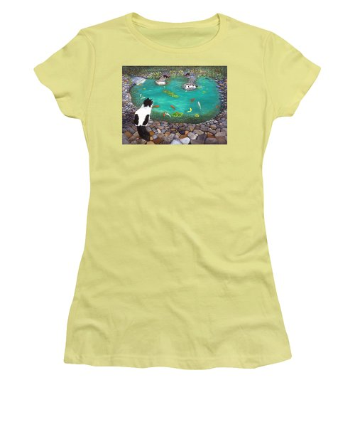 Cats And Koi Women's T-Shirt (Athletic Fit)