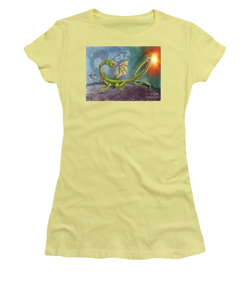 Concealed Carry Dragon Women's T-Shirt (Athletic Fit)