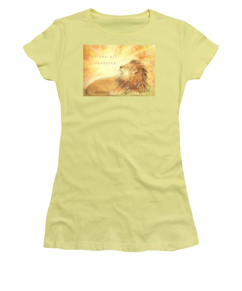 Cecil The Lion Women's T-Shirt (Junior Cut) by Denise Fulmer