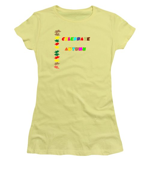 Celebrate Autumn Women's T-Shirt (Athletic Fit)