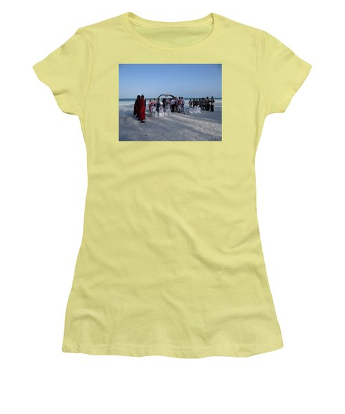 Celebrate Marriage On The Beach Women's T-Shirt (Athletic Fit)