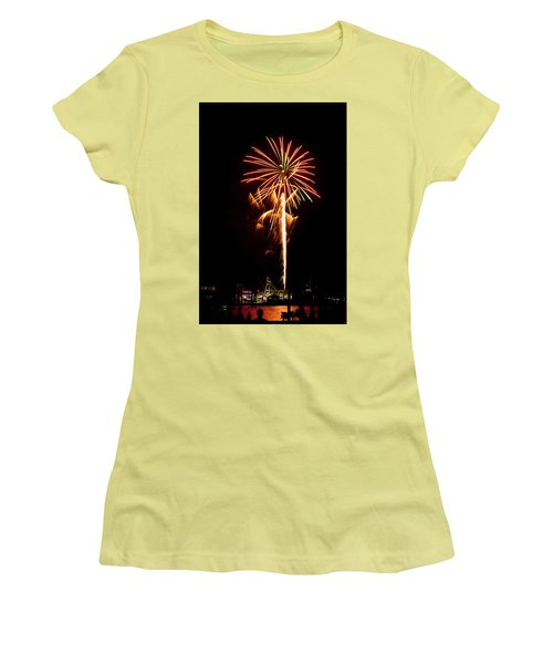 Celebration Fireworks Women's T-Shirt (Junior Cut) by Bill Barber