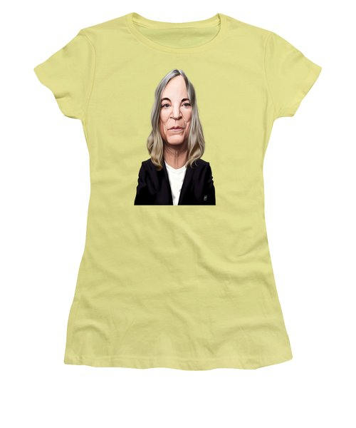 Women's T-Shirt (Junior Cut) featuring the drawing Celebrity Sunday - Patti Smith by Rob Snow