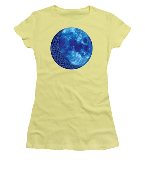 Celtic Blue Moon Women's T-Shirt (Junior Cut) by Kristen Fox