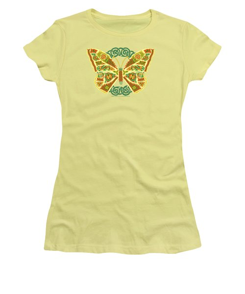 Celtic Butterfly Women's T-Shirt (Junior Cut) by Kristen Fox