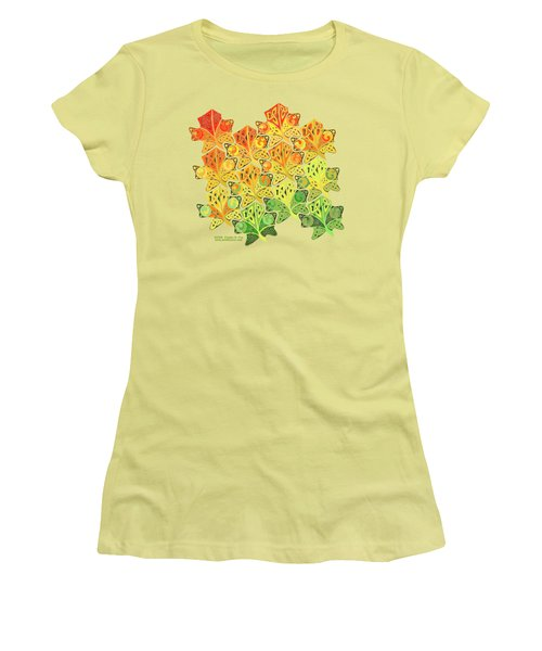 Celtic Leaf Transformation Women's T-Shirt (Junior Cut) by Kristen Fox