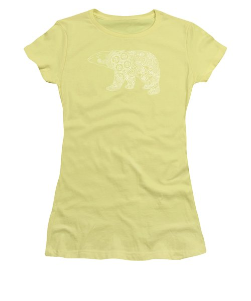 Celtic Polar Bear Women's T-Shirt (Junior Cut) by Kristen Fox