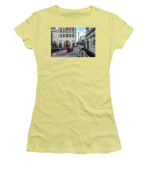 Cement Truck In The Itty-bitty-city Women's T-Shirt (Athletic Fit)