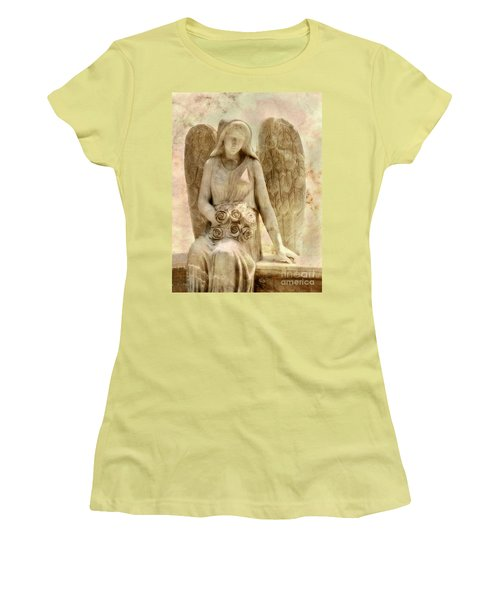 Cemetery Angel Statue Women's T-Shirt (Athletic Fit)