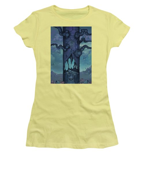 Women's T-Shirt (Junior Cut) featuring the painting Cenotaph by Andrew Batcheller