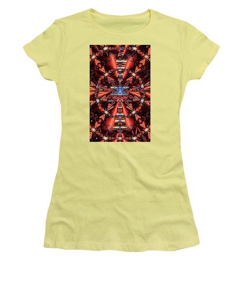 Centered Women's T-Shirt (Junior Cut) by Ron Bissett