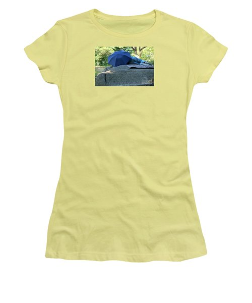 Women's T-Shirt (Junior Cut) featuring the photograph Central Park Beauty Rest by Vinnie Oakes