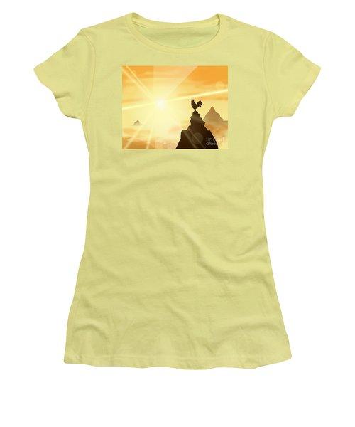 Challenge The Sun Women's T-Shirt (Athletic Fit)
