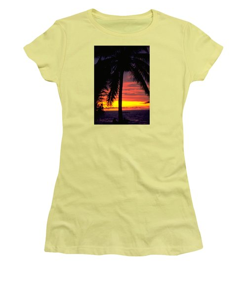 Champagne Sunset Women's T-Shirt (Junior Cut) by Travel Pics