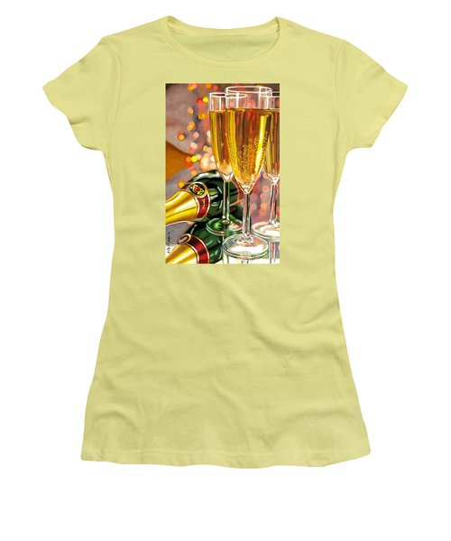 Champagne Wishes Women's T-Shirt (Athletic Fit)