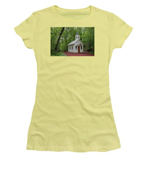 Chapel In The Woods 1 Women's T-Shirt (Junior Cut) by Trey Foerster
