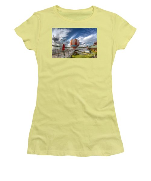 Characters In Flight Women's T-Shirt (Athletic Fit)