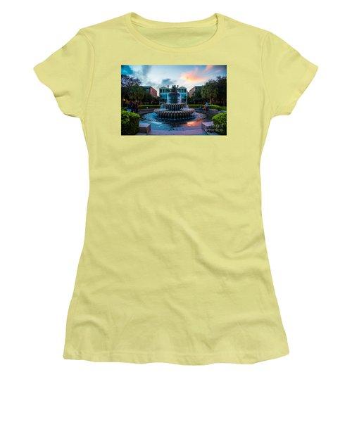 Charleston Pineapple Sunset Women's T-Shirt (Junior Cut) by Robert Loe