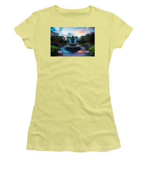 Charleston Pineapple Sunset Women's T-Shirt (Athletic Fit)