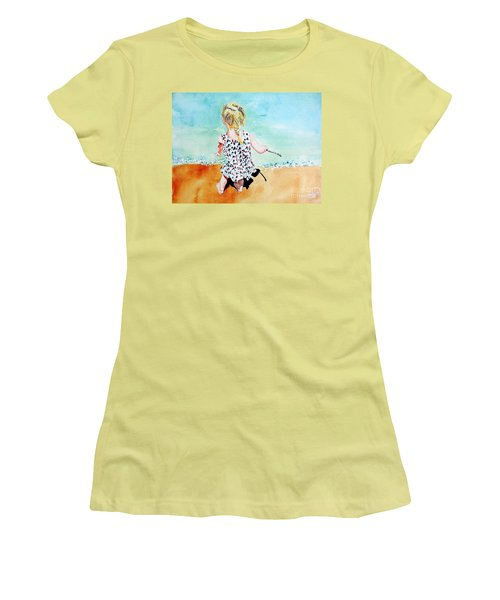 Charlotte By The Lake Women's T-Shirt (Junior Cut) by Tom Riggs