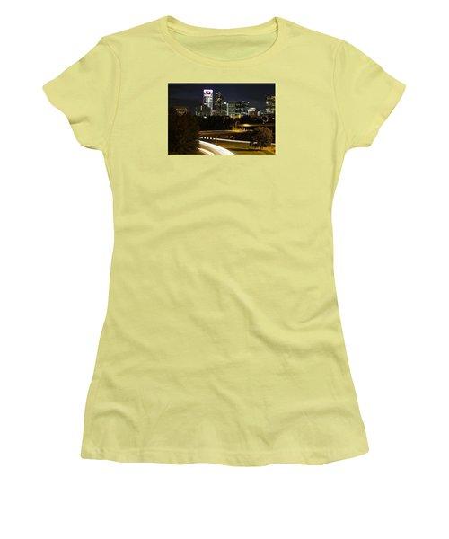 Charlotte's Skyline Women's T-Shirt (Junior Cut) by Demetrai Johnson