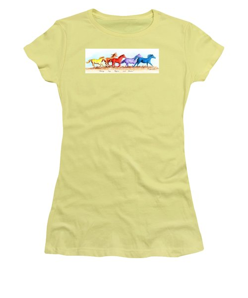 Chasing My Hopes And Dreams Women's T-Shirt (Junior Cut) by LeAnne Sowa