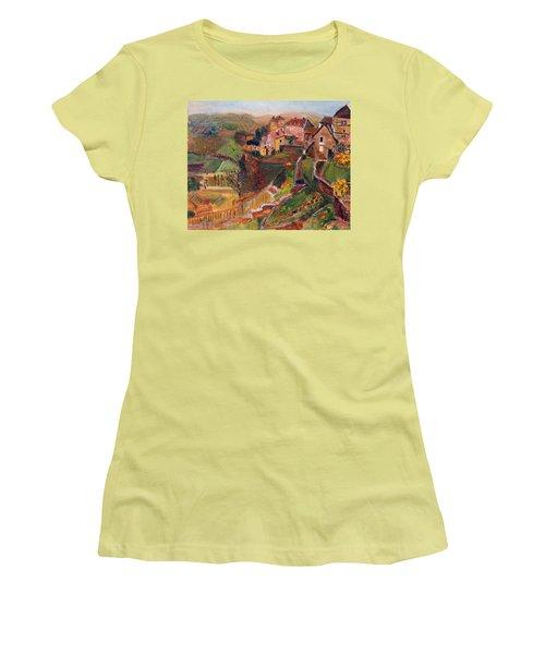 Chateau Chalon Women's T-Shirt (Junior Cut) by Michael Helfen