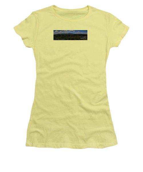 Chattahoochee Forest Overlook Women's T-Shirt (Junior Cut) by Barbara Bowen