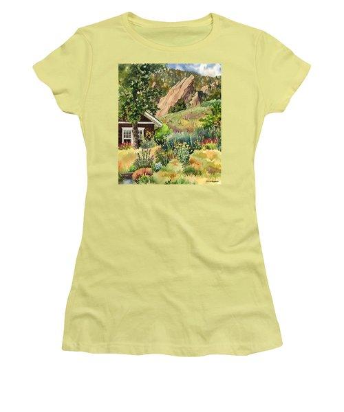 Chautauqua Cottage Women's T-Shirt (Athletic Fit)