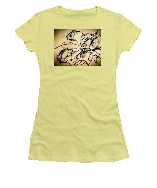 Chauvet Cave Lions Women's T-Shirt (Athletic Fit)