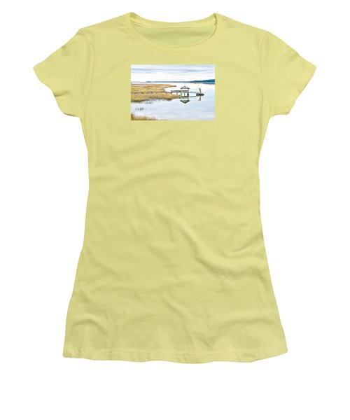 Chechessee Creek Dock Women's T-Shirt (Athletic Fit)