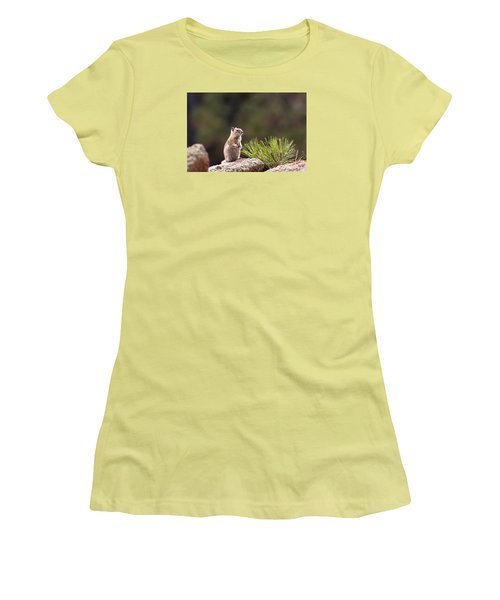 Women's T-Shirt (Junior Cut) featuring the photograph Checking Things Out by Monte Stevens