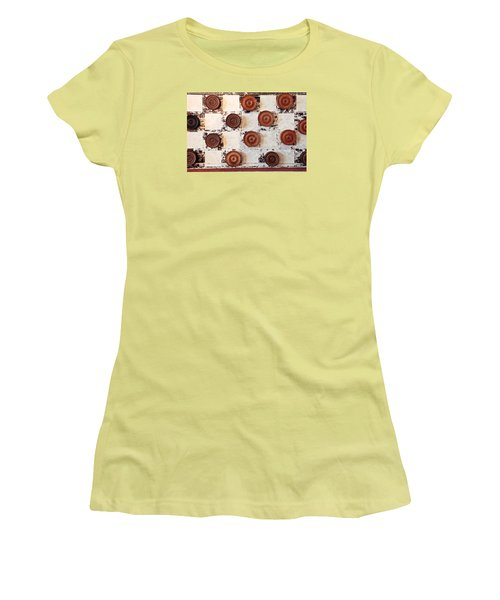 Chequer Board Women's T-Shirt (Athletic Fit)
