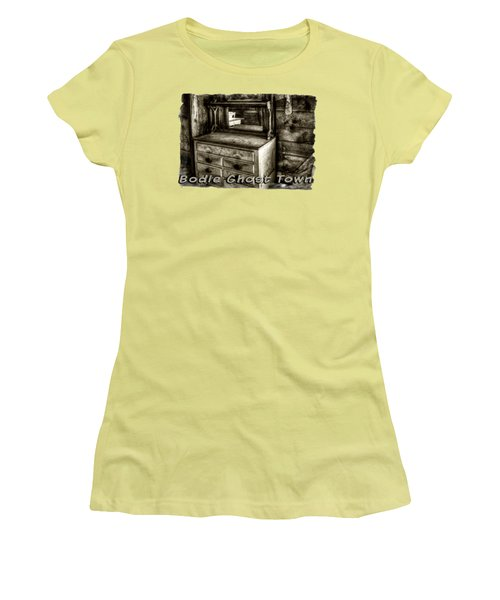 Chest With Mirror In Bodie Ghost Town Women's T-Shirt (Athletic Fit)