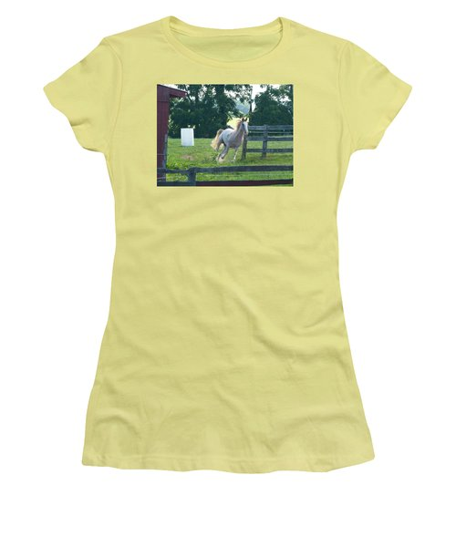 Chester On The Run Women's T-Shirt (Junior Cut) by Donald C Morgan