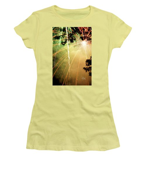 Chetola Yellow Fireworks Women's T-Shirt (Athletic Fit)