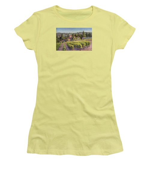 Chianti Vineyard Women's T-Shirt (Athletic Fit)