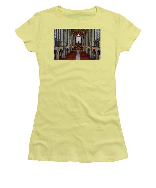 Chicago Rockefeller Chapel Women's T-Shirt (Junior Cut) by Mike Burgquist