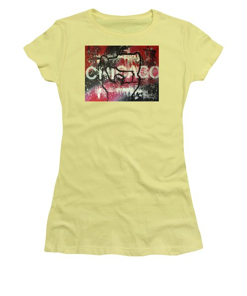 Chicago's Cup Women's T-Shirt (Junior Cut) by Melissa Goodrich