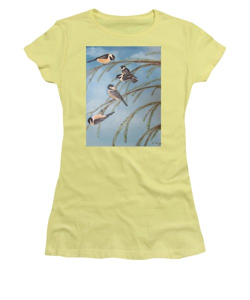 Chickadee Party Women's T-Shirt (Athletic Fit)
