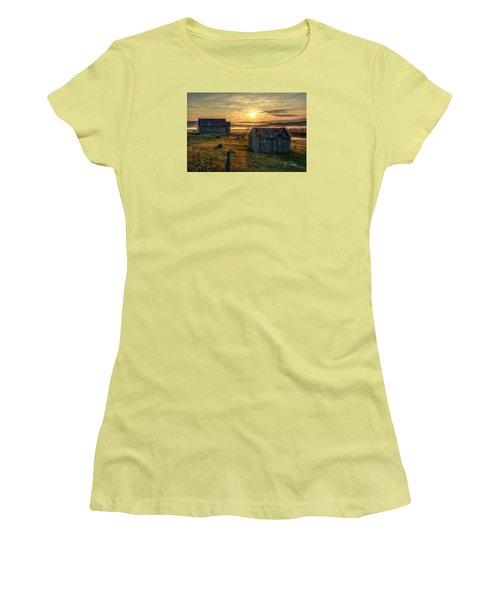 Chicken Creek Schoolhouse Women's T-Shirt (Junior Cut) by Fiskr Larsen
