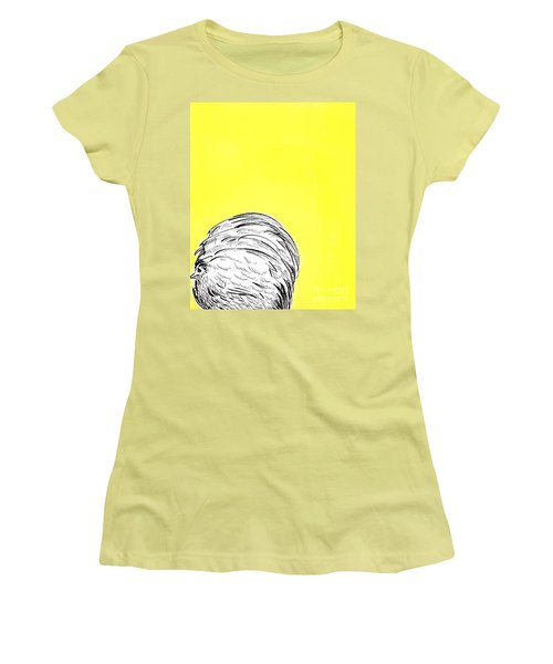 Women's T-Shirt (Junior Cut) featuring the painting Chickens Two by Jason Tricktop Matthews